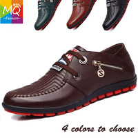 2014 new men's oxfords fashion geniune leather men casual shoes high quality breathable sport men sneakers shoes MS9546