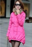 Hot New 2014 Fashion Real Fur Collar parkas for women winter Hoody White Duck Down Jacket Women parka Womens Free shipping B2319