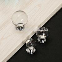 Free Shipping 10pcs/lot  Glass Round Cabinet Knob Drawer Pull Handle Kitchen Door Wardrobe Hardware