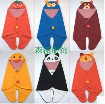 Новорожденный мягкого флиса одеяла дети детское одеяло малыша мультфильм обертывание ...
