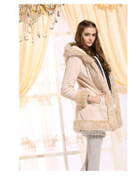 Free shipping lady woolen cloth coat Ms more fashionable sweet warm coat
