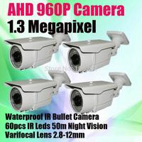 50m Long range IR 60PCS IR Leds Outdoor  720P HD AHD Varifocal Lens 2.8-12mm Outdoor Security CCTV Camera