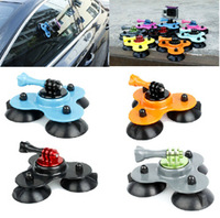 Low angle colorful suction cup mount+long screw set for GoPro HD Hero 3/2/1,removable tripod mount cup for go pro hero 3