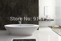 Free shipping acrylic bathtub freestanding spa soaking tub RS6010