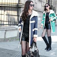 Women  Coat  Suede Fabric Lambs Overcoat Long Type Lamb Fur Coat Warming Women Jacket Winter Outerwear 2014 New Fashion A214