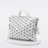 2014 new bao bao issey miyake plaid bag Messenger Bags women handbag big bag geometry classic