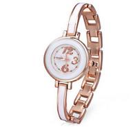 Brand New Round Dial Waterproof Watch For Women Hour Marks Quartz Watch Women Stainless Steel Strap Wrist Watch