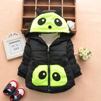 2014 New baby boy girls winter coats children cartoon panda cotton-padded jackets kids warm hoodies parkas outerwear 123A