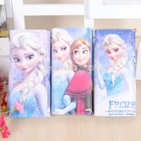 New Frozen Wallet/Snow Queen Elsa Anna Hand bag/Women Long Purse Clutch Wallet/Cartoon card bag,5pcs/lot