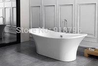Free shipping acrylic bathtub freestanding simple spa soaking art bathtub RS6015