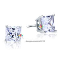 Wholesale 1 Carat Lab-Created Diamond Solid 925 Sterling Silver Stud Earrings Jewelry CFE8077
