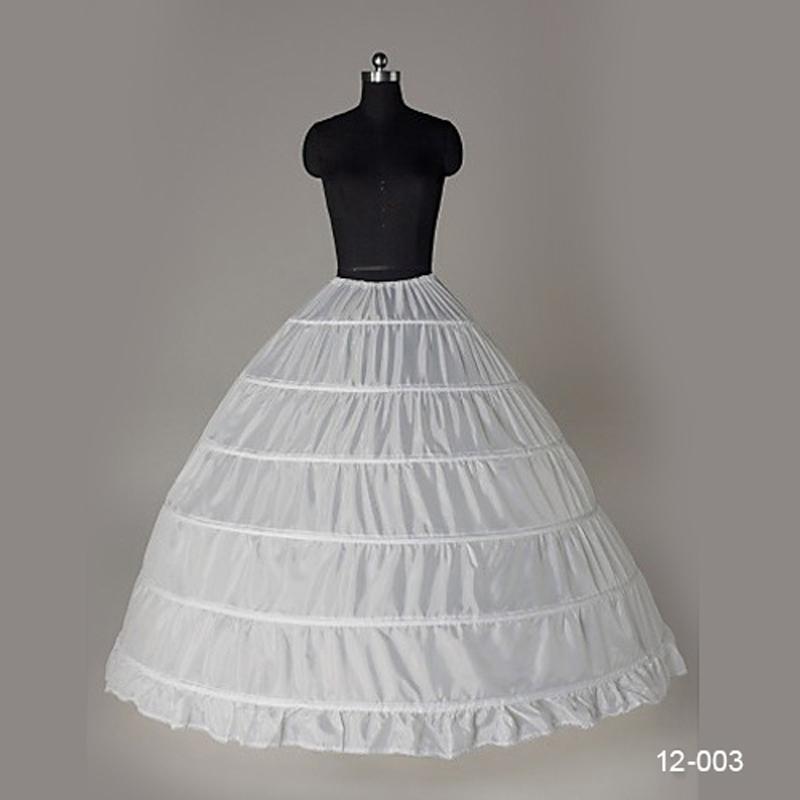 In Stock 2014 Wedding Ball Gown Petticoat For Girls 1 Hoop 6 Layers Crinoline Underskirt Petticoat For Wedding Dresses 12003(China (Mainland))