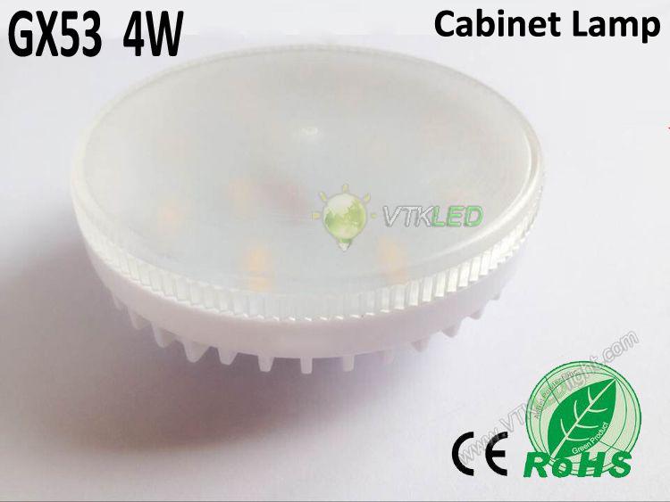 Free shipping 10pcs/lot 90-240V 110v 220v 240v SMD2835 30led 18led 4w high brightness gx53 led cabinet lamp(China (Mainland))