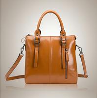 New Style Women Leather Handbag Genuine Leather Messenger Bag Large Space Shoulder Bag Vintage Luxury Leather Bolsas Crossbody