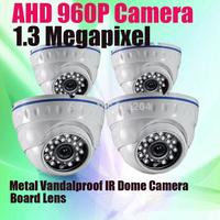Surveillance Camera Vandal proof Dome 24PCS IR Leds night vision Board lens CMOS Sensor 960P HD AHD CCTV Camera