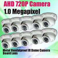 24pcs IR Leds Metal Dome IR CCTV Camera 1/4'' CMOS Sensor 1280*720P HD-AHD Analog Video Surveillance Camera