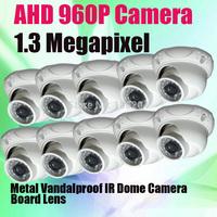 2014 New Technology 1280*960P 1.3 Megapixel HD-AHD Vandalproof Dome IR Camera Metal AHD CCTV Camera