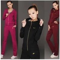 p$Spring Autumn New Fashion Women's Casual Sports Suit Tracksuit Coat Sportswear Jacket Jogging Hoodies Sweatshirts Sets