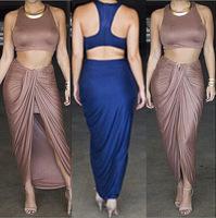 2014 new European and American nightclub ladies' two-piece dress bandage dress party club