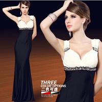 2014 New Fashion Women's dress , Fashion Sexy deep V Evening Dress vestidos Wedding party dresses Free shipping