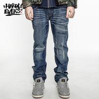 hardlyevers Original ripped hole jeans men disel brand fashion designer men jeans denim pants trousers
