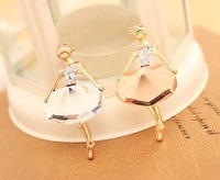 The ballet girl temperament brooch Crystal brooch brooches free shipping