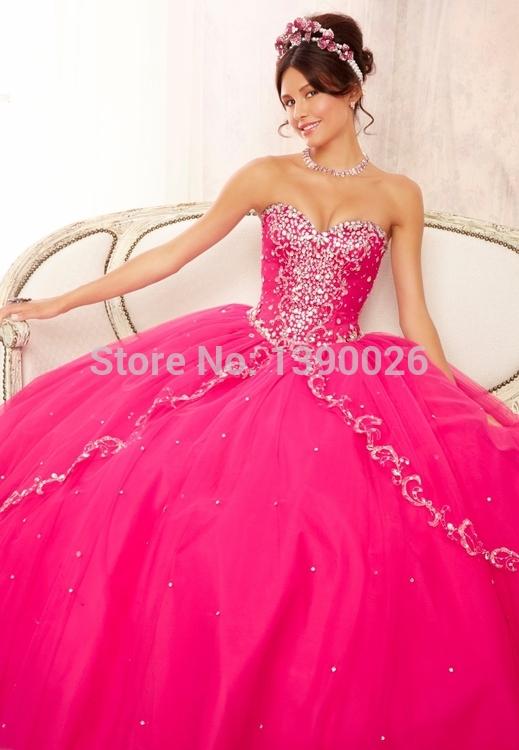 Pink Light Blue ...Light Pink Puffy Quinceanera Dresses