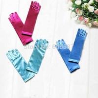 Retail 2014 New Fashion Frozen Gloves Princess Girls Long Gloves Elsa Gloves 1209