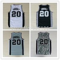 20# Manu Ginobili Jersey New Material Rev 30 Embroidery San Antonio Basketball jerseys size S-XXL Retail/Wholesale Free Shipping
