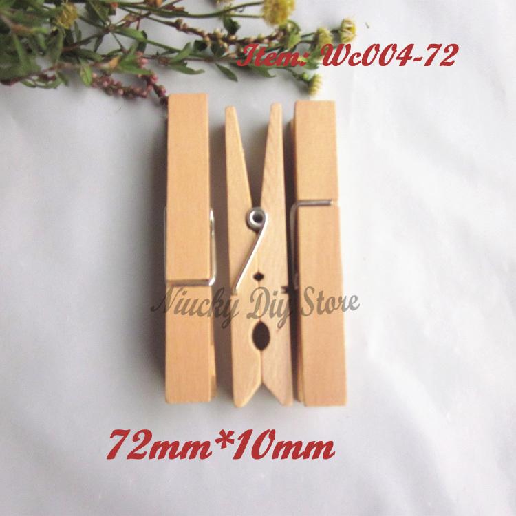 60 pcs 72 mm naturel grande 233 pingles 224 linge en bois artisanat en bois clip papier parti