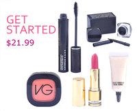 good product 2014 new fashion top sales MA brand eyes mascara+face blush makeup set women love 5pcs cosmetics set free shipping