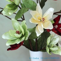 1 PCS Beautiful Fake flower Silk Flower Artificial Magnolia denudata Home Decoration gift F265