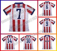 Top Thai quality 2015 Madrid Soccer Jersey GRIEZMANN MANDZUKIC ARDA KOKE GABI SIMEONE 14 15 Soccer Jersey
