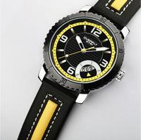New Brand Eyki Fashion Casual Leather Strap Quartz Watch Men Auto Date Watches Top Quality