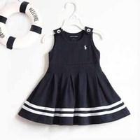 2014 New Summer Girls Dresses Sleeveless Famous Brand Princess Girls Dress 5 pieces / lot 1215