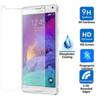 10pcs/lot For Samsung Galaxy Note 4 Tempered Glass Screen Protector New Arrivals Cellphone Glass Protective Film Glass Material