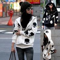 2014 New Printed Women Hoodie Printed Sweatshirt Women Coat Sweatshirt Hooded Outerwear Tops Pullover It Sales Very Well Skull