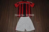 best quality 2014/15 AC Milan children/youth/kids football shirt equipment,ac milano TORRES soccer jersey & shorts uniform set