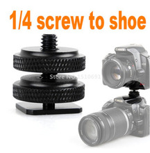 Photo Studio Accessories Cold Foot to 1/4″ Screw Adapter for Camera Flash Holder Bracket Hot Shoe Mount