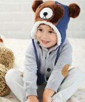 Children's Bear Winter knitted hats Girls Christmas hats  LG5866CH