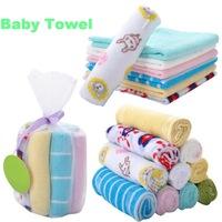 Baby small square face towel bath towel bibs Soft Class A cartoon bath towel