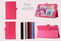 For Acer A1-840 Case,New Folio Stand PU leather Case cover For 8 inch Acer A1-840 Tablet PC,free shipping!!!