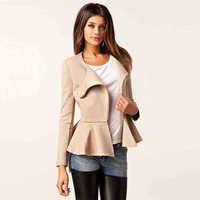 Slim waist skirt long-sleeved T-shirt jacket zipper jacket