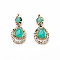 2014 Blue Teardrop Stud Earring  Women Charm Earring Fashion Earring Free Shipping (Min $20 can mix)