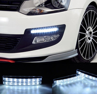 UNIVERSAL 2pcs DRL 8 LED Driving Light Fog lamp kit Car Truck SUV Trailer RV