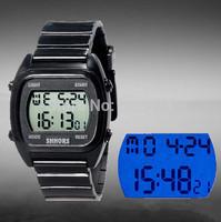 SHHORS New Unisex Military Watch Sports Watches women Digital Quartz LED Dress Wristwatches 30M Waterproof Multifunction watch