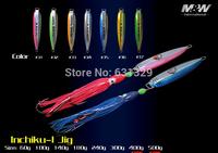 Free Shipping M&W Jigging Fishing Lure  Iron Bait Inchiku-1 Series 60G river and lake wholesale