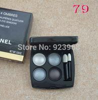 New LES 4 color eyeshadow Makeup, 8 differ colors, 12g(1 pcs/lots)1pcs  Eye shadow