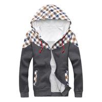 Autumn 2014 new men's fashion leisure cotton sweater Korean men's hooded cardigan sports jacket