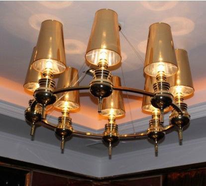 Stylish living room modern minimalist restaurant lamp chandelier classic hotel balcony guards made chandelier lighting project(China (Mainland))